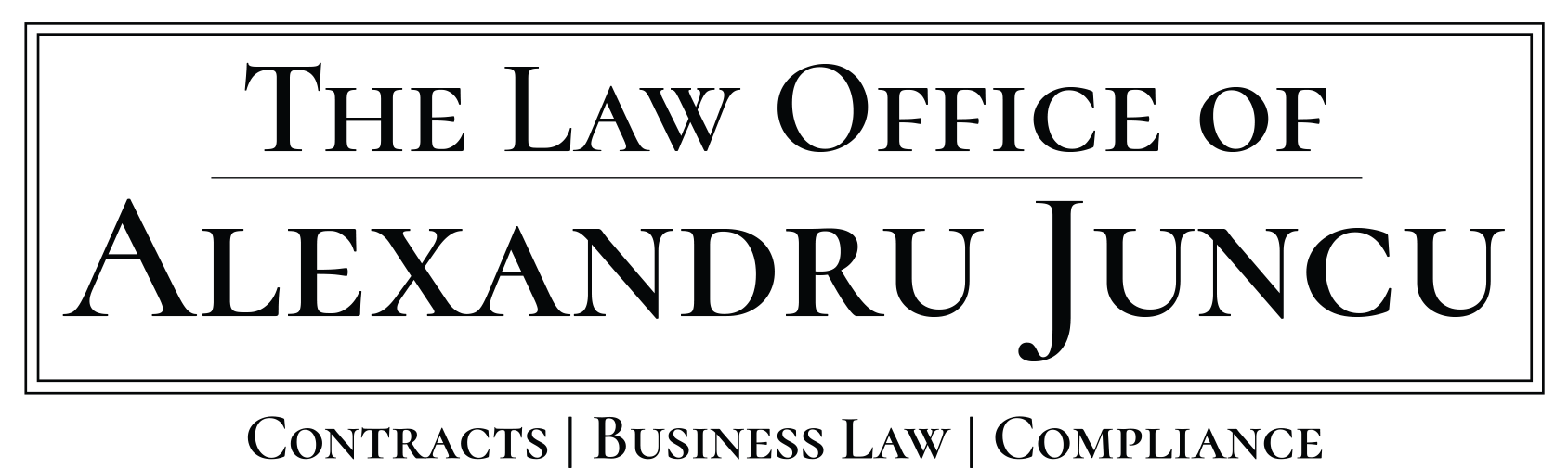 Law Office of Alexandru Juncu, LLC [Contracts, Business Law, Compliance]